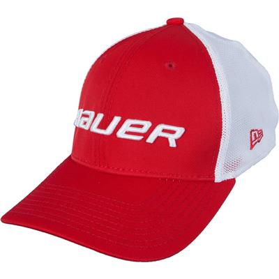 Red (Bauer 39THIRTY Stretch Mesh Fitted Hat)