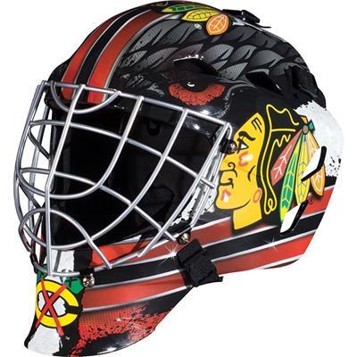 Chicago Blackhawks (Franklin GFM1500 NHL Decal Street Hockey Goalie Mask)