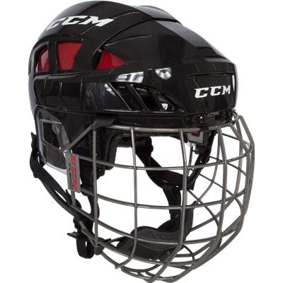 Black/Red (CCM Fitlite FL80 Hockey Helmet Combo)