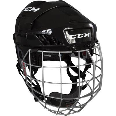Black (CCM Fitlite FL60 Hockey Helmet Combo)