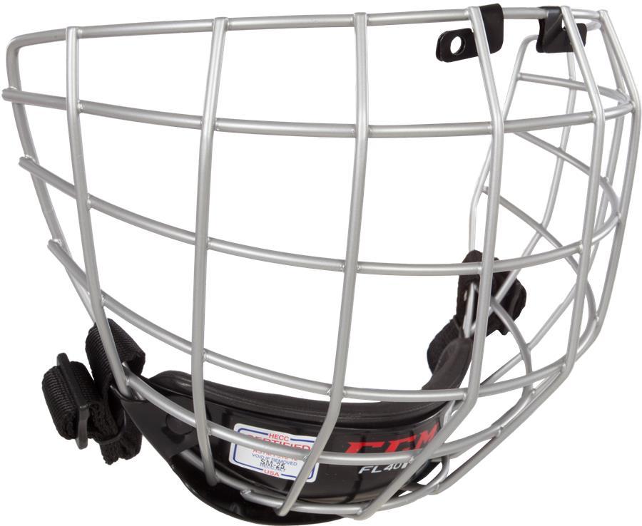 0755c0bf905 Silver (CCM Fitlite FL40 Hockey Helmet Facemask)