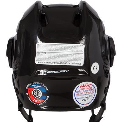 Back View (Bauer Prodigy Hockey Helmet)