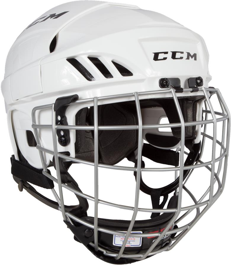 5bd6a94a7f6 White (CCM Fitlite FL40 Hockey Helmet Combo)