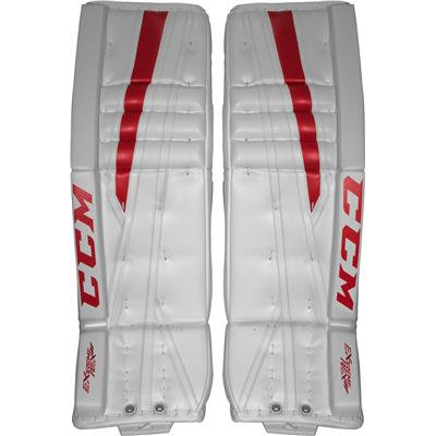White/Red (CCM Extreme Flex II Pro Goalie Leg Pads)