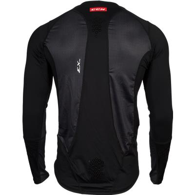 Back View (CCM Long Sleeve Compression Shirt w/ Grip)