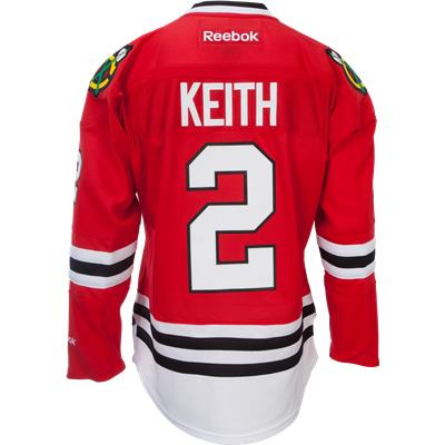 f45e861b6 Keith No. 2 On Back (Reebok Duncan Keith Chicago Blackhawks Premier Jersey  - Home