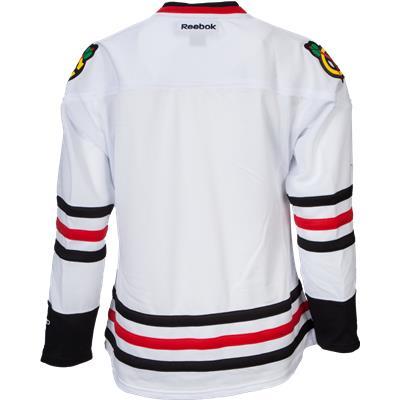 Back View (Reebok Chicago Blackhawks Premier Jersey - Away/White)