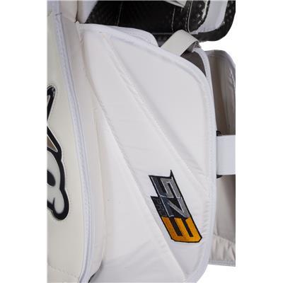 Outer Side Detail (Brians Sub Zero Pro 3 Goalie Leg Pads)