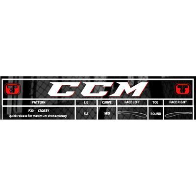 Blade Patterns (CCM RBZ Speedburner White SE Grip Composite Stick)