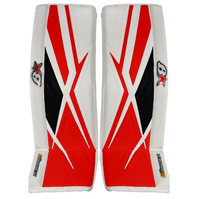 White Black Red (Brians Sub Zero Pro 3 Goalie Leg Pads)