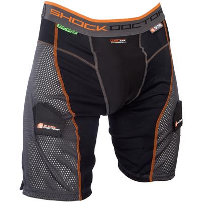 Black/Grey (Shock Doctor Ultra Power Stride Jock Shorts w/AirCore Cup - Mens)