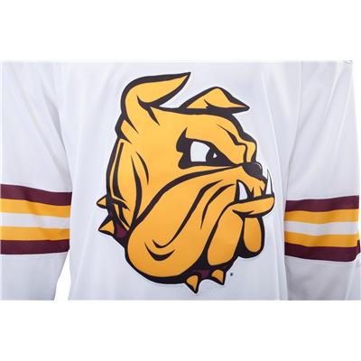 Front Logo (Under Armour Minnesota-Duluth Bulldogs Jersey - Away White -  Mens afb85bf241e
