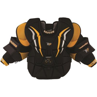 Black/Sport Gold/White (Vaughn Velocity 7 XF Pro Goalie Chest And Arm Protector)