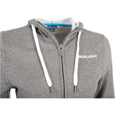 Zipper View (Bauer Full-Zip Hoodie)