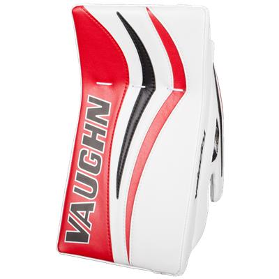 White/Red/Black (Vaughn Velocity 7 XF Pro Goalie Blocker)