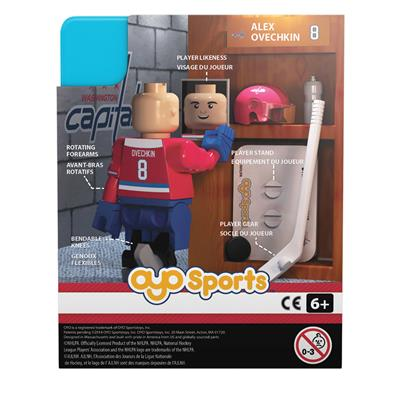 Back Of Package (OYO Sports Washington Capitals NHL Mini Figures - Third Jersey)