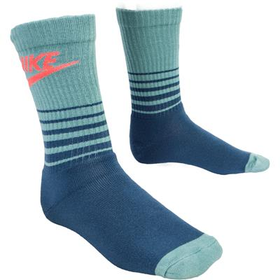 Blue/Blue Sage/Bright Crimson (Nike HBR Classic Striped Crew Socks)