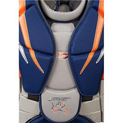 sternum (Vaughn Velocity 7 XF Pro Carbon Goalie Chest & Arm Protector)