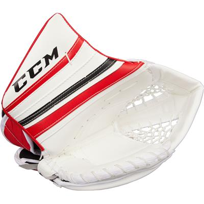 White/Black/Red (CCM Premier Pro Goalie Catch Glove)