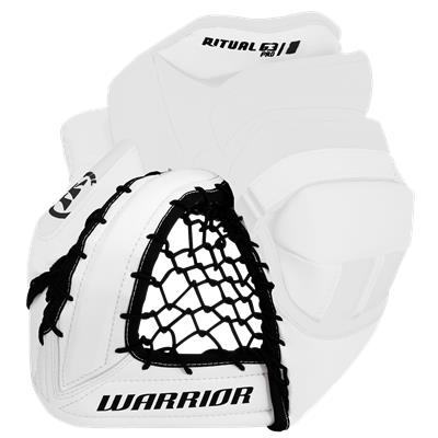 White/White Backhand (Warrior Ritual G3 Pro Goalie Catch Glove)