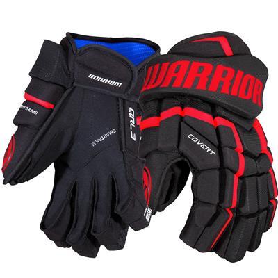 Black/Red (Warrior Covert QRL3 Hockey Gloves)