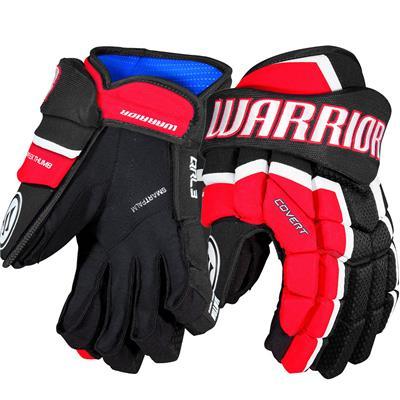 Black/Red/White (Warrior Covert QRL3 Hockey Gloves - Senior)