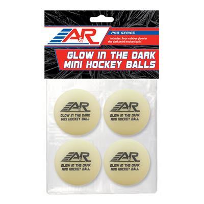(A&R Glow in the Dark Mini Balls - 4 Pack)