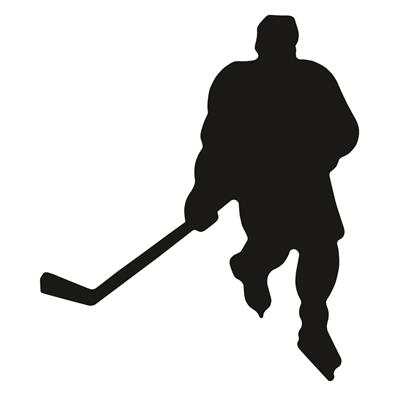(A&R Hockey Player Magnet & Decal)