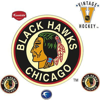 (Vintage Blackhawks Fathead)
