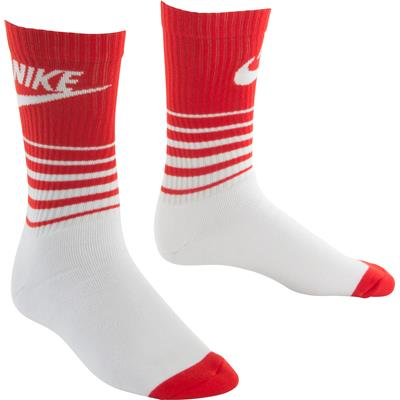 (Nike HBR Classic Striped Crew Socks)