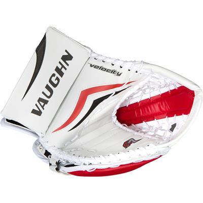 White/Red/Black (Vaughn Velocity 7 XR Pro Goalie Catch Glove)