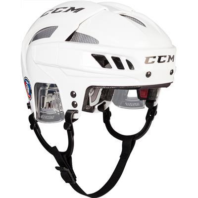 White/Silver (CCM FITLITE Hockey Helmet)