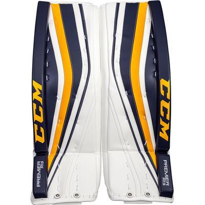 White/Navy/Gold (CCM Premier R1.9 Goalie Leg Pads)