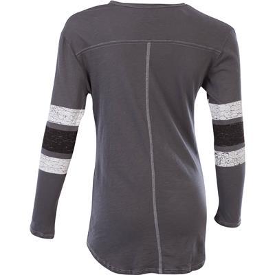 (Retro Brand Detroit Red Wings Henley Long Sleeve Shirt)